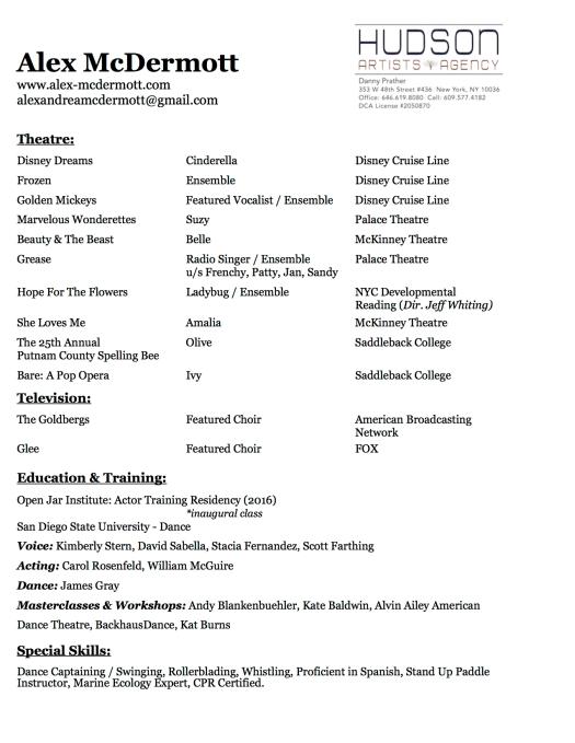 Alex McDermott Resume